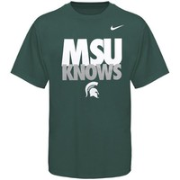 Nike Michigan State Spartans MSU Knows T-Shirt - Green