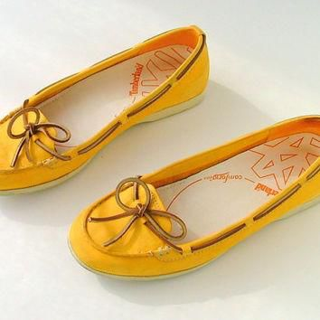 Shoes Loafers Moccasins Boat Shoes Flats / Leather / Boho Folk / 80s Vintage Timberla