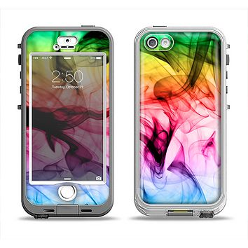 The Neon Glowing Fumes Apple iPhone 5-5s LifeProof Nuud Case Skin Set