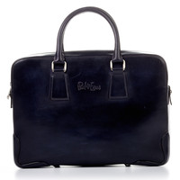 Italian Leather Briefcase - Nero