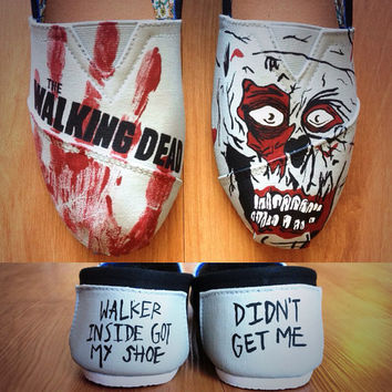 Hand Painted The Walking Dead TOMS Shoes