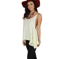 Sale-ivory On Repeat Tank Top