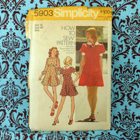 "Simplicity Sewing Pattern 5903 Size 18 Bust 40"" Miss from 1972"