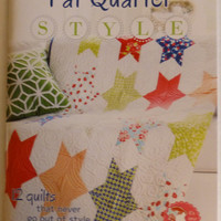 "Book ""Fat Quarter Style"" Quilt Book, Fat Quarter Quilts, Published by Fat Quarter Shop, Fast Shipping"