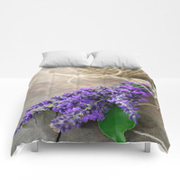Lavender bouquet Comforters by tanjariedel