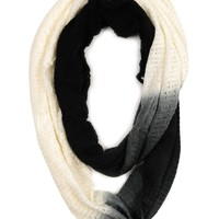 Paula Bianco Infinity Scarf in Black/Cream