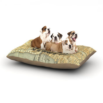 "Alison Coxon ""London Type"" Map Dog Bed"