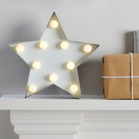 Light Up Metal Star Sign Decoration
