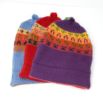 10 Assorted Thick Alpaca Wool Hat ( $ 6 Unit Price)