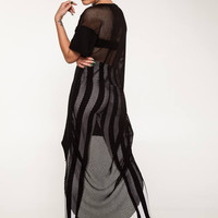 Caught Out Net Back Tunic from Evil Twin