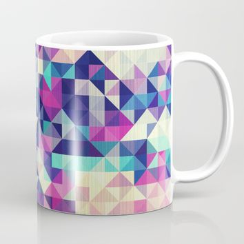 The Colors of the Summer (Minimal Triangle Pattern ) Mug by Jeanette Rietz