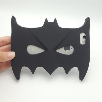 soft silicone case for iPhone 8 7 6 6s plus 5 5s SE 4 4s Halloween 3D Cartoon batman mask Fundas Rubber Cover Phone cases