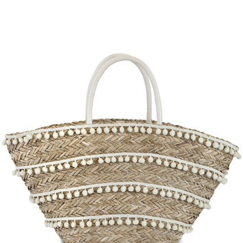 Fringe Straw Tote- Natural