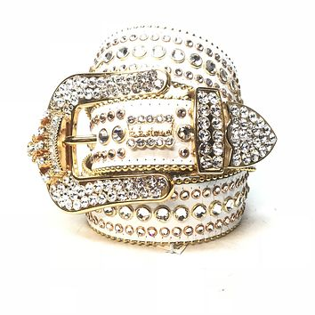 B.B. Simon  White Gold Crown  Fully Loaded Swarovski Crystal Bel 2a1bd56a4c