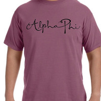 Alpha Phi Berry Comfort Colors Crewneck Nice Quality Comfortable Golden Youth Clothing Seaside Apparel Inspired Cheap Comfort Colors