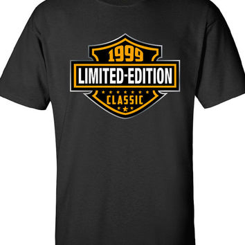 15th Birthday Shirt - 1999 Limited Edition Classic B-day T Shirt Cool hipster swag mens womens ladies TShirt T-Shirt T Shirt Tee  - DT-611