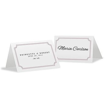 Expressions Place Card With Fold Indigo Blue Text With White Background (Pack of 1)