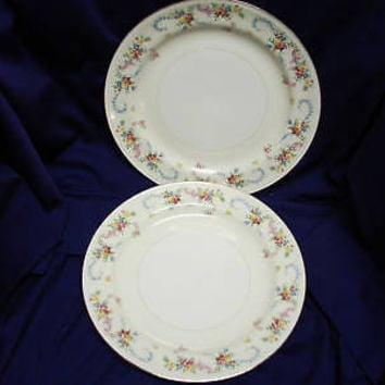 Vintage Homer Laughlin China Dinnerware Dubarry Rosemary Eggshell set 2 Dinner