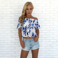 Blue Hue Floral Blouse