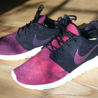Nike Roshe Run men's custom shoes - Purple Dusk.