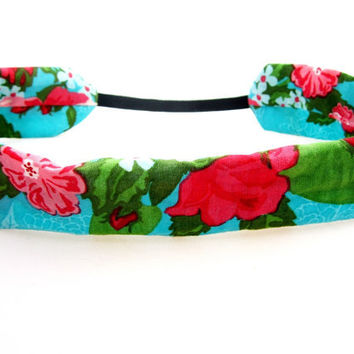 Cotton Rose Headband, Bohemian Headband
