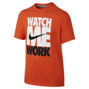 "Nike ""Watch Me Work"" TD Boys' T-Shirt Size Small (Orange)"