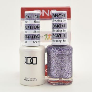 DND Daisy Soak Off Gel Polish + Matching Nail Polish Duo 411 Shooting Star