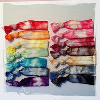 Choose Your Own 5 Cute Stretchy Tie Dye Hair Ties (emi twist ties)