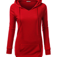 Hooded Long Sleeve Sweater with Pocket