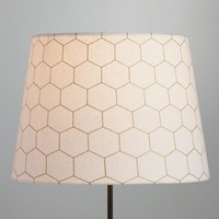 Gold Honeycomb Cotton Table Lamp Shade