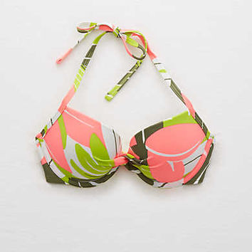 Aerie Pushup Bikini Top , Lemon Lime Infusion