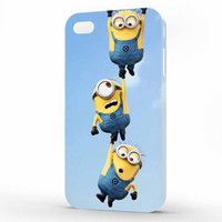 Minion Despicable Me Funny Three Minion iPhone 4   4s Case, 3d printed IPhone case