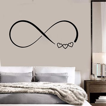 Vinyl Wall Decal Love Infinity Bedroom Decor Stickers Mural Unique Gift (472ig)
