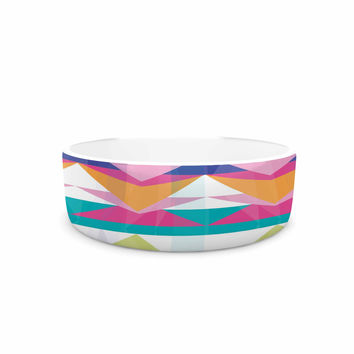 "Miranda Mol ""Triangle Waves"" Geometric Pattern Pet Bowl"