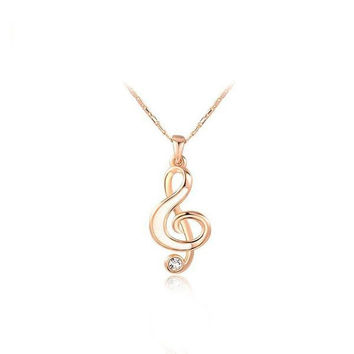 Shiny Stylish Gift New Arrival Jewelry Music Necklace [9281909764]