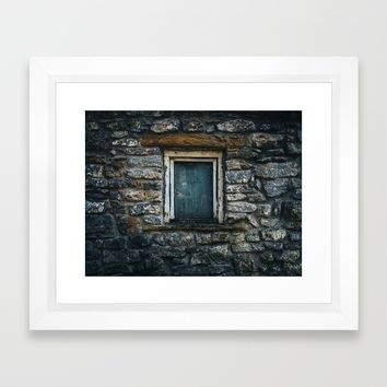 Who's That Peepin' In The Window? Framed Art Print by Mixed Imagery