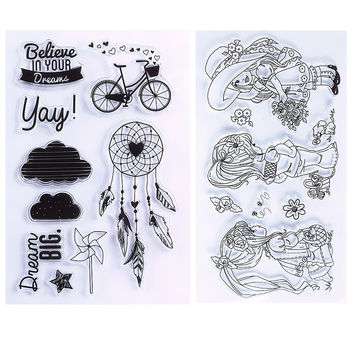 New Unique Clear Stamp Scrapbook DIY Photo Cards Rubber Stamp Seal Stamp Happy Transparent Silicone Stamp #94565