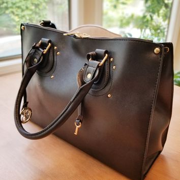 Milan Vegan Leather Handbag Available in Four Colors