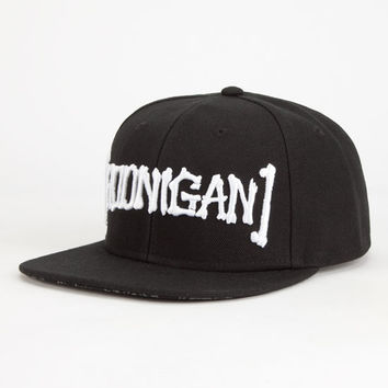 Hoonigan Bones Mens Snapback Hat Black One Size For Men 26836410001