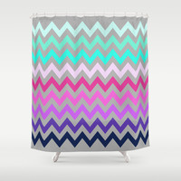 Chevron #10 Shower Curtain by Ornaart