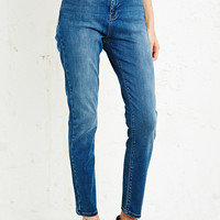 Light Before Dark Super High-Rise Skinny Jeans in Mid Wash - Urban Outfitters