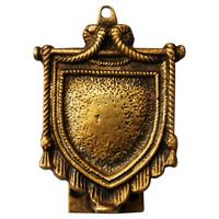 Brass Crest Door Knocker