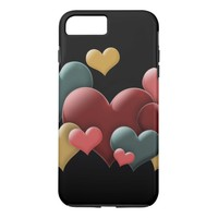 Colorful Hearts iPhone 8 Plus/7 Plus Case