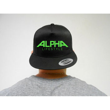 ALPHA Lifestyle Snapback Hat, Mens Workout Hat, Mens Gym Hat, Mens ALPHA Hat, Mens Snapback, Gift for Boyfriend, Gift for Bodybuilder