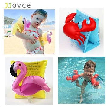 JJOVCE Ultralight Cute Cartoon Arm Flamingo Crab Floating Swimming Pool Training Random Color Unique Design Swin Rings for Babys