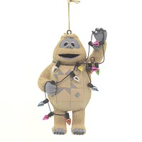 Jim Shore BUMBLE WRAPPED IN LIGHTS. Polyresin Ornament Rudolph Reindeer 6004152