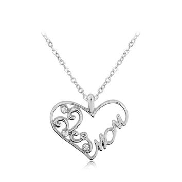 New Arrival Gift Shiny Jewelry Simple Design Stylish Alphabet Diamonds Pendant Necklace [6033925697]