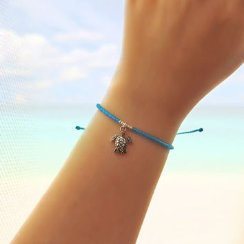Turtle Friendship Bracelet - Best Friend Gift - Best Friend Bracelet - Beaded Bracelet - Seed Bead Bracelet - Turquoise Bracelet