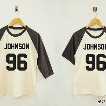 Johnson 96 Shirt Instagram Tumblr Youtube Hipster Shirt Rock Shirt Baseball Tee Raglan Baseball Shirt Unisex Shirt Women Shirt Men Shirt