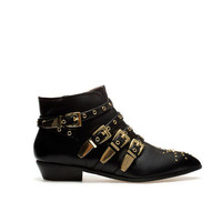 ANKLE BOOT WITH BUCKLES - Shoes - Woman | ZARA United States